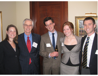 Corboy & Demetrio Attorney Michelle Kohut, Kevin Conway and Loyola University Chicago School of Law First Year Students