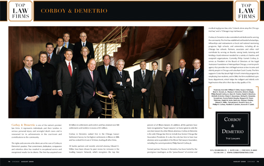 Corboy & Demetrio Named One of Chicago's Top Law Firms: Corboy