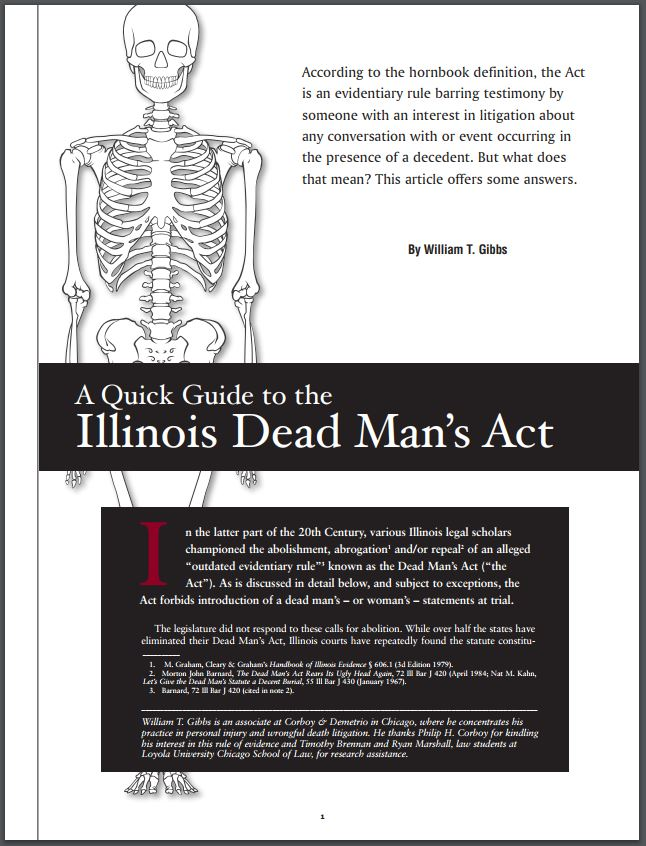 Illinois Dead Mans Act