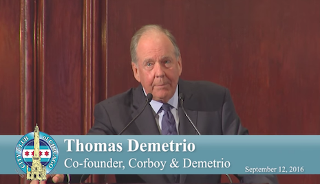 Watch Thomas Demetrio Speak About Concussions & NFL at City Club of Chicago Event