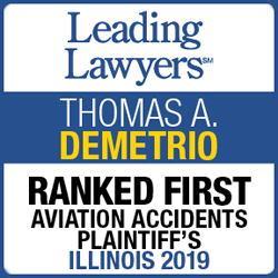 Leading Lawyers, Thomas A. Demtrio, Ranked First, Aviation Accidents Plaintiff's, Illinois 2019